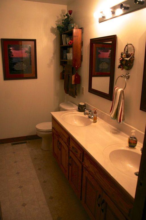 Bathrooms on every floor.